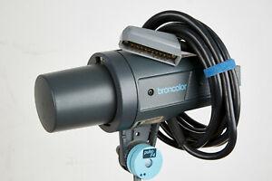 BRONCOLOR PULSO F4 STUDIO FLASH HEAD - GOOD CONDITION - GOOD FLASH TUBE- PYREX
