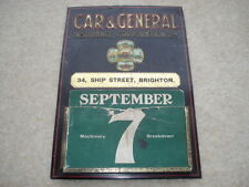 C1920 VINTAGE car&general Insurance Corporation Ltd 34 NAVE ST Brighton calendario