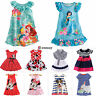 Toddler Kids Girls Summer Princess Party Dresses Cartoon Sundress Skirts Clothes