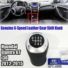 43711A5200 6-Speed Leather Gear Shift Knob For HYUNDAI i30 2012-2015
