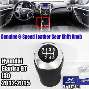 43711A5200 6-Speed Leather Gear Shift Knob For HYUNDAI i30 2012-2015