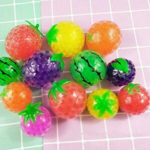 Fruit Sensory Stress Reliever Ball Toy Autism Squeeze Fidget Anxiety Toy S5A4