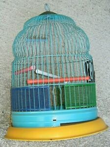 ANTIQUE VTG DOME WIRE HENDRYX BIRD CAGE REPAINTED