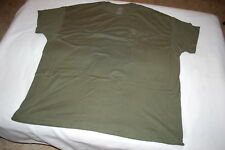 Mens S/S Tee Shirt ARMY GREEN w/ POCKET Fruit of the Loom SIZE 3XL 54-56