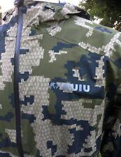 Men's Kuiu Teton Rain Jacket Sz M Verde 2.0 Camo Waterproof Ultralight Hunting