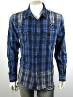True Religion $179 Men's Western Button Up Big T Shirt/Top -  MSGAT4BK4