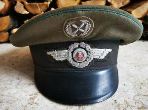 NVA Luftstreitkräfte Schirmmütze Offizier * 1962 * gestickte Effekten Metallgarn