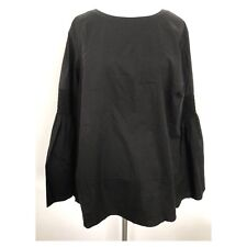 NEW Philosophy Women's Republic Clothing Top Blouse Size 3X Black Bell Sleeve