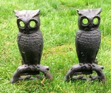All Metal Owl Andirons Very Neat