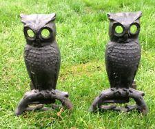 Metal Owl Andirons