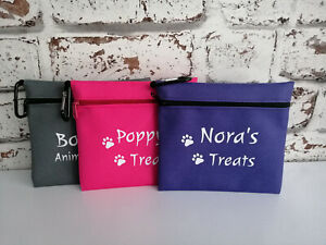 dog treat bag personalised with any name & text dogs treining bag treats pouch