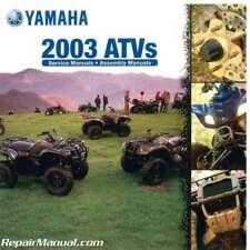 2003 Yamaha ATVs CD-ROM Repair Manual Parts Book and Owners Manual for 2003 A...