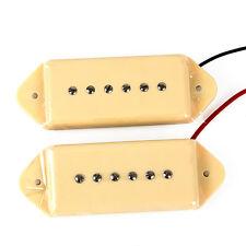 Electric Guitar P90 Soapbar Single Coil Bridge And Neck Pickups Dog Ear Set
