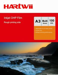 A3 Inkjet OHP Film Overhead Projector Transparent Film with Strip 420x297 Hartwi