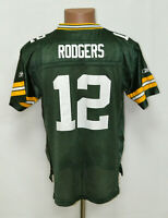 NFL GREEN BAY PACKERS AMERICAN FOOTBALL SHIRT REEBOK RODGERS #12 SIZE YXL BOYS