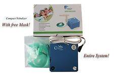 "MINI Nebulizer Compessor Machine W/ Reusable Neb Kit and Mask ""FULL KIT"""