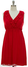 Womens Plus Size Dresses 1X 14/16 Little Red Sleeveless Top Stretch Dress NEW