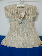 Stunning Antique Child Baby Crocheted Dress w/Coordinating Shoes
