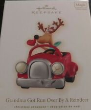 2009 Hallmark Grandma Got Run Over By A Reindeer Magic Ornament Dated NIB NEW