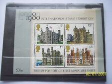 *1980 INTERNATIONAL STAMP EXHIBITION MINATURE SHEET