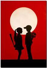 "BANKSY STREET ART CANVAS PRINT love hurts 8""X 10"" stencil poster red"