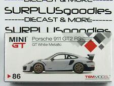 Tsm Model Mini-Gt Overseas Box Lhd White Porsche 911 Gt2 Rs Weissach Package
