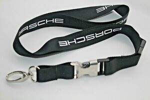 Porsche Lanyard  Black Press Gift Key Neck Strap Le Mans 2020 Black Metal Buckle