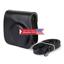 black PU Leather Camera Shoulder Bag Case Pouch For Fujifilm Instax Mini 8