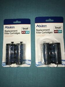 2- Aqueon QuietFlow Filter Cartridge Replacement 2Pack AT10 AT15 Total Of 4 NIB