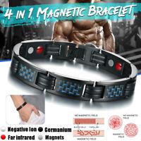 4 en 1 Bracelet Magnétique Anti-Douleurs Arthrose Rhumatisme Thérapie Unisexe