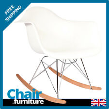 Rocking Chair RAR Rocker Armchair Retro Modern Lounge Dining Furniture White