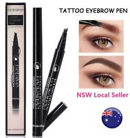AU Waterproof Microblade Fork Eyebrow Liner Liquid Brush Tattoo Pen Pencil Ink