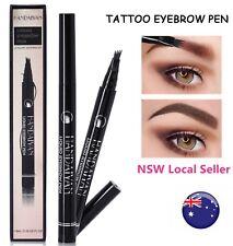 AU Waterproof Microblade Fork Eyebrow Liner Liquid Brush Tattoo Pen Pencil Ink