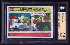 LEBRON JAMES 2003-04 BAZOOKA COMICS ROOKIE TRUE BGS 9.5 RARE .5 AWAY AWESOME HOT