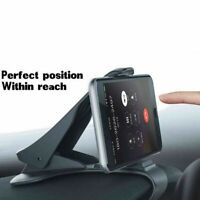 Adjustable Universal Antiskid Car Phone Holder Clip Dashboard Design HUD T1Y5