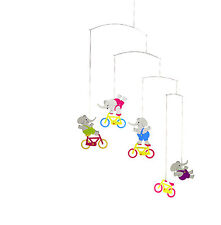 Flensted Cyclephants Elephant Bike Modern Hanging Baby Mobile Nursery Decor