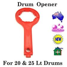 Drum Opener for 20 Liter & 25 Litre Plastic Drum Cap Plug Bung Container Lid Red