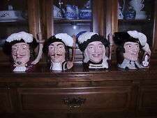 The FOUR Musketeers by Royal Doulton, Large  MINT Toby or Character Mugs