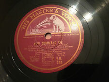"""JOAN HAMMOND, DENNIS NOBLE """"Now Command Me""""/""""Ah Say To Thy Daughter Dear"""" 78rpm"""