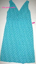 FRESH PRODUCE Small Turquoise Blue Sayulita MANHATTAN Drape Dress $89 NWT New S