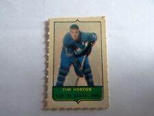 4 in 1 OPC 1969-70 Mini card stamp of Tim Horton Toronto Maple Leafs