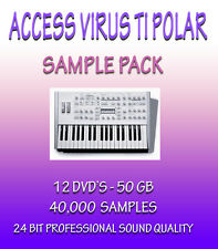 ACCESS VIRUS TI POLAR SAMPLES IN WAV FORMAT - FOR ALL WAV COMPATIBLE SOFTWARE