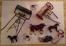Lavoro Lotto Britains LTD LONDON Antico DIE CAST AGRICOLTURA MACCHINE UTENSILI Mucche ect