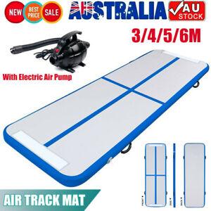 3-6M Air track Inflatable Floor Home Gymnastics Tumbling Mat GYM W/Pump Gift AU