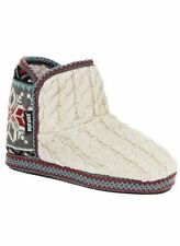 MUK LUKS Women's Leigh Slipper Boot - Vanilla - Small - NEW