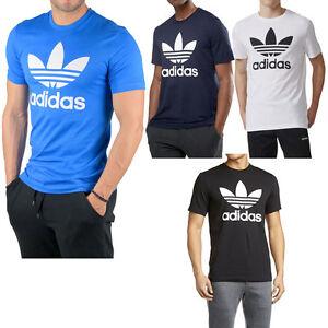Adidas Originals Classic Trefoil Logo Graphic Tee T-Shirt Cotton Crew Neck