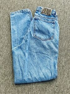 """Zena Jeans Vintage High Waisted Mom Jeans Button/ Zip Fly Size 10 28"""" Tapered"""