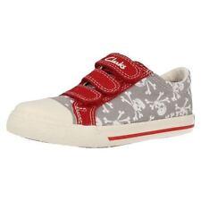 Chaussures décontractées gris avec attache auto-agrippant pour garçon de 2 à 16 ans