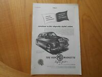 Vintage MG Magnette Advert -- Original -- from 1953