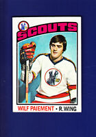 Wilf Paiement 1976-77 TOPPS Hockey #37 (NM) Kansas City Scouts